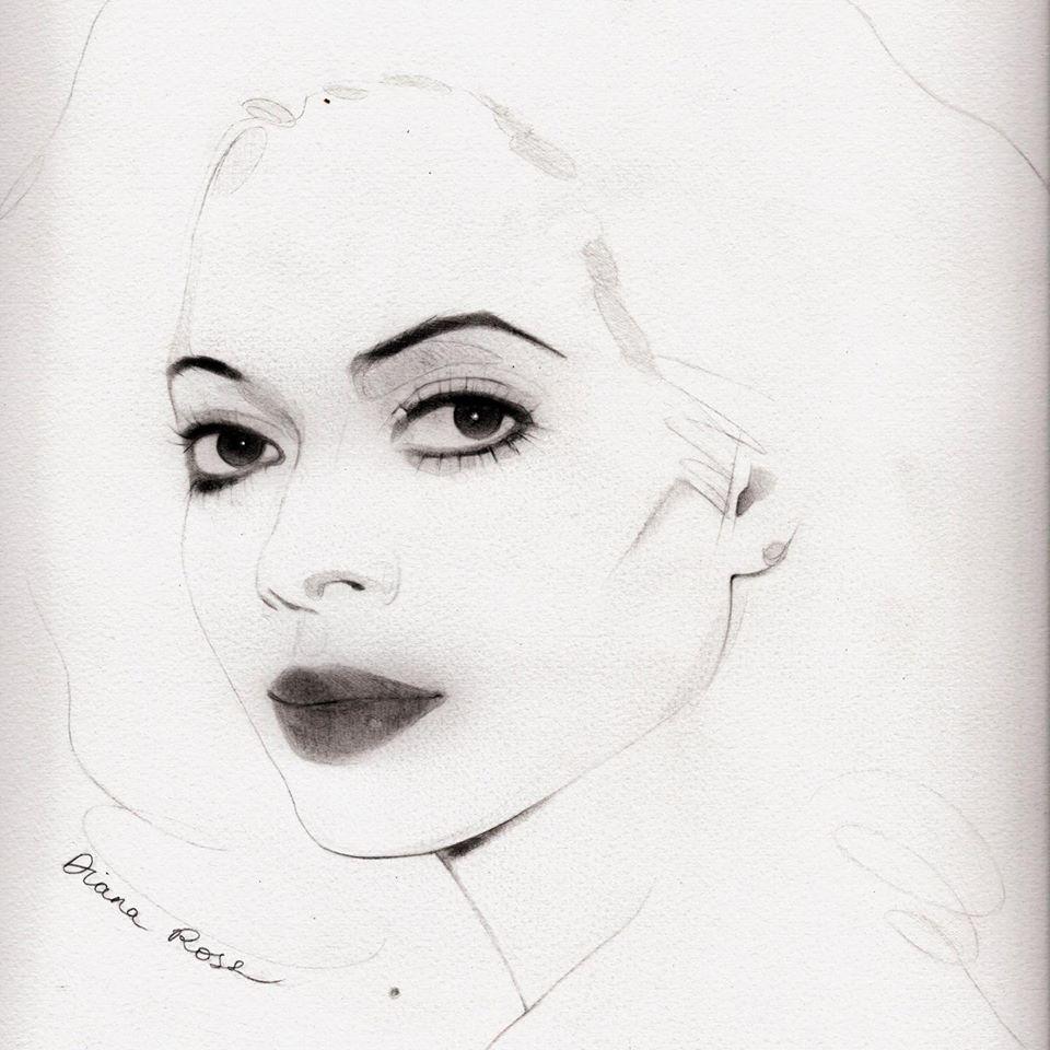 Diana Ross by Laura Tinald Art